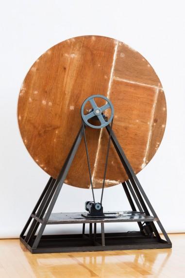回転する木の円盤 #4