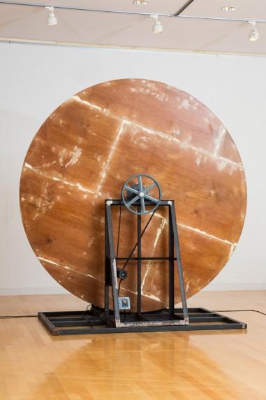 回転する木の円盤 #5